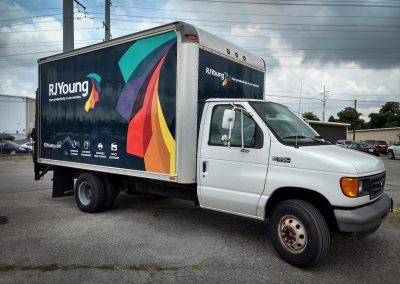 RJ Young Box Truck Wrap